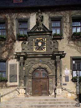 Rathaus - Hautpeingangsportal am Markt Quedlinburg, Markt. (Bild 100-5771)