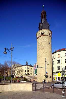 Halle / Saale: Breiter Turm am Stadtring / Leipziger Straße. (Bild 102-3559)