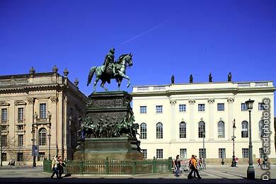 Reiterdenkmal Friedrich des Großen Berlin, Unter den Linden. (Bild 102-4287)