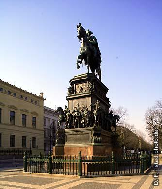 Reiterdenkmal Friedrich des Großen Berlin, Unter den Linden. (Bild 102-4531)