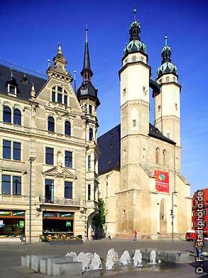 Halle / Saale: Stadtkirche am Markt. (Bild 102-6444)