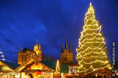 Erfurt: Weihnachtsmarkt. (Bild 103-6829)