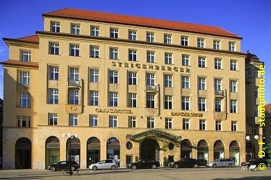 Steigenberger Grandhotel Handelshof Leipzig Hotel ***** / 5 Sterne. Leipzig, Salzgäßchen 6. Leipzigs neuer Stern am Hotelhimmel. Luxushotel der Steigenberger-Gruppe im einstigen Messepalast Handelshof, eröffnet im April 2011. (Bild 107-5175)