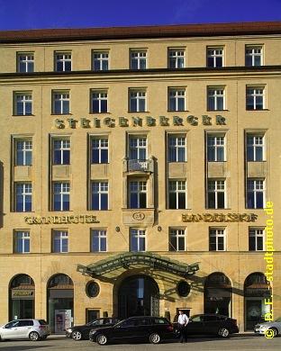Steigenberger Grandhotel Handelshof Leipzig Hotel ***** / 5 Sterne. Leipzig, Salzgäßchen 6. Leipzigs neuer Stern am Hotelhimmel. Luxushotel der Steigenberger-Gruppe im einstigen Messepalast Handelshof, eröffnet im April 2011. (Bild 107-5178)