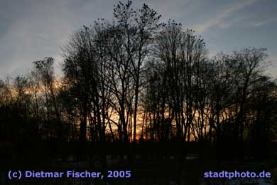 Sonnenuntergang an der Parthe bei Taucha Taucha, Stadtpark. (Bild taucha-008)